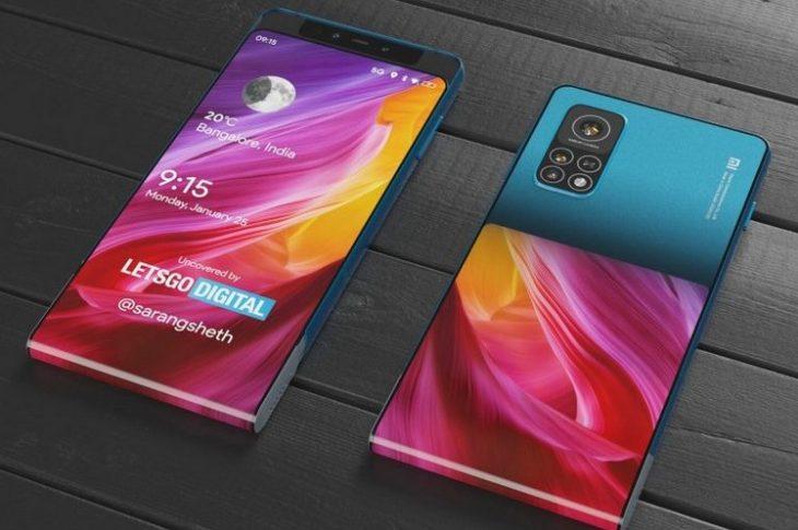 Xiaomi Patenttelefon med glidende skærm, der strækker sig til bagsiden